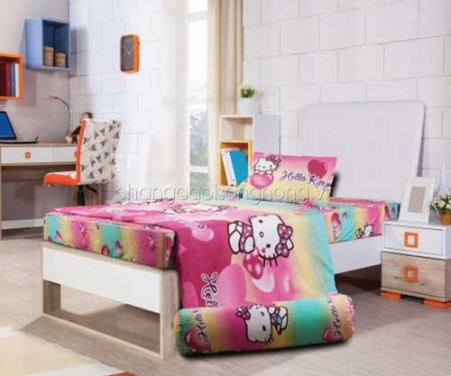 Bộ chăn ga gối Hello Kitty K16037