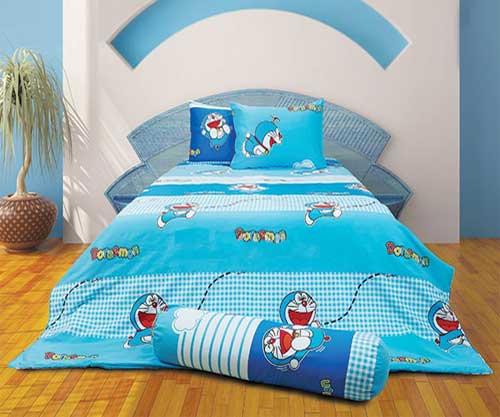 Bộ chăn ga gối hoạt hình Doraemon D15009